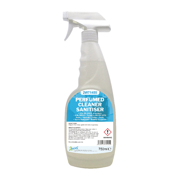 2Work Prfumed Spray Wipe Sanitiser 750ml