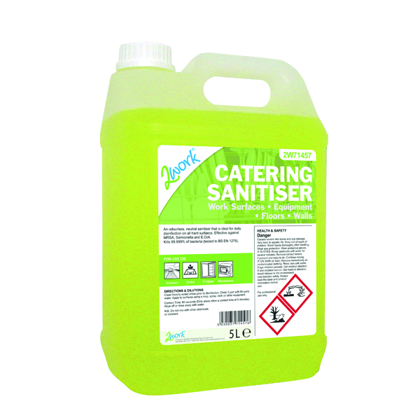 2Work Catering Sanitiser 5 Litre 2W71457