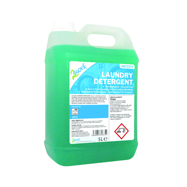 2Work Liquid Laundry Detergent 5 Litre