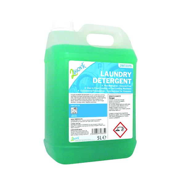 2Work Liquid Laundry Detergent 5L Auto Dosing 2W72375