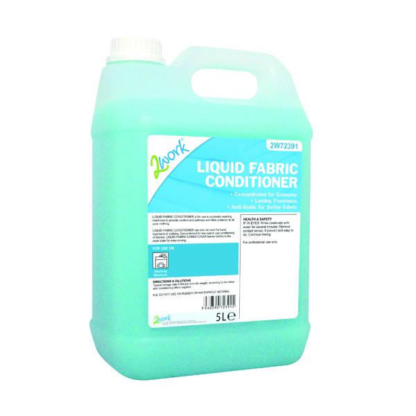2Work Liquid Fabric Conditioner 5 Litre