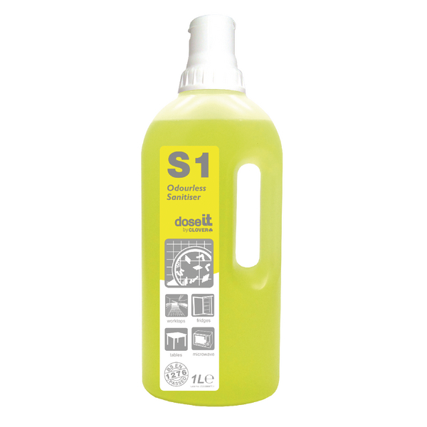 Dose It S1 Odourless Sanitiser 1 Litre (Pack of 8) 225