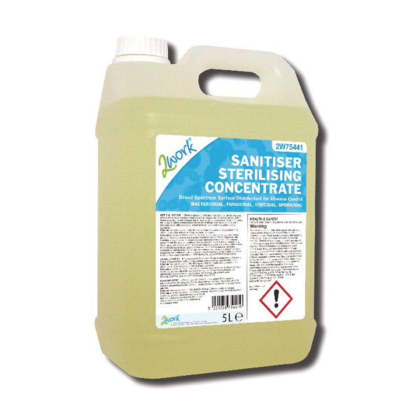 2Work Sanitiser Sterilising Concentrate 5 Litre 260