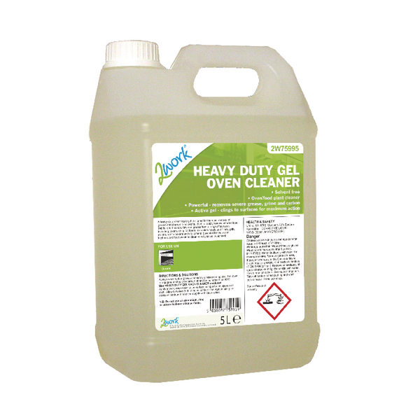 2Work Heavy Duty Gel Oven Cleaner 5 Litre 304