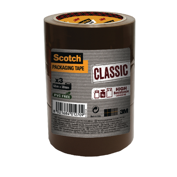 Scotch Classic Packaging Tape 50mmx50m Brown CL.5050.T3.B
