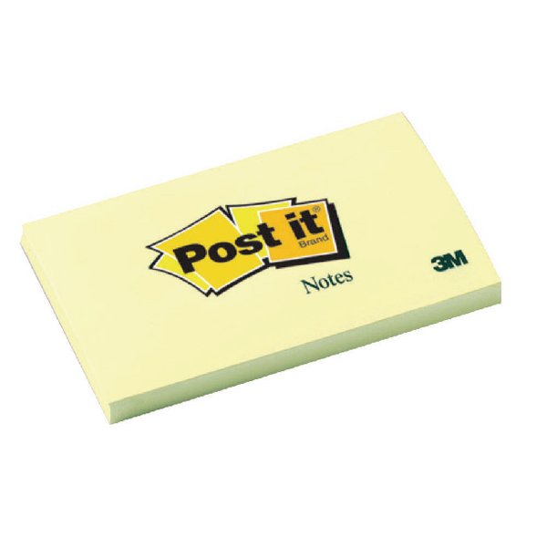 3M POSTIT NOTE 76X127MM YELLOW 655 PK12