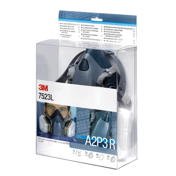 3M Half Mask and Filter Kit 7523L