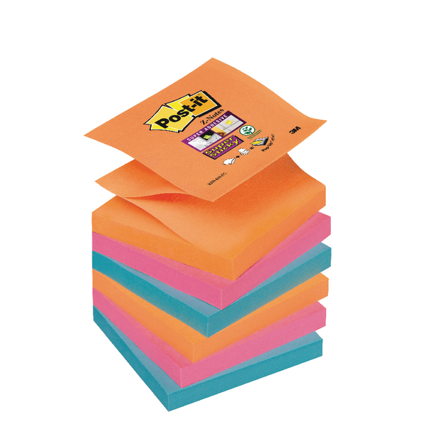 Post-it Super Sticky Z-Notes 76 x 76mm Bangkok (Pack of 6) 70-0051-9785-3