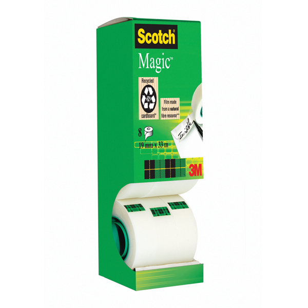 Scotch Magic Tape 810 Tower Pack 19mm x 33m (Pack of 8) 8-1933R8