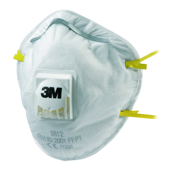 3M FFP1 Valved Respirator 8812 (Pack of 10) GT500075194