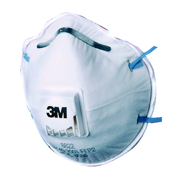 3M FFP2 Valved Respirator 8822 (Pack of 10) GT500075202