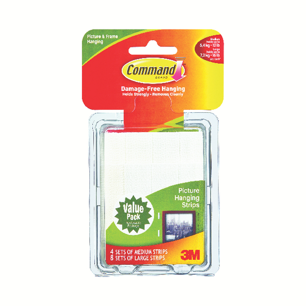 3M Command Picture Hanging Strips Value Pack of 24 17209