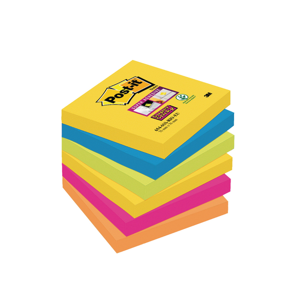 Post-it Super Sticky 76x76mm Rio Notes (Pack of 6) 654-6SS-RIO-EU