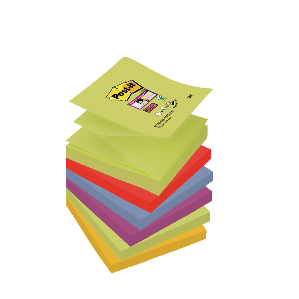 Post-it Super Sticky Z-Notes 76 x 76mm Marrakesh Collection (Pack of 6) R330-6SS-MAR-EU