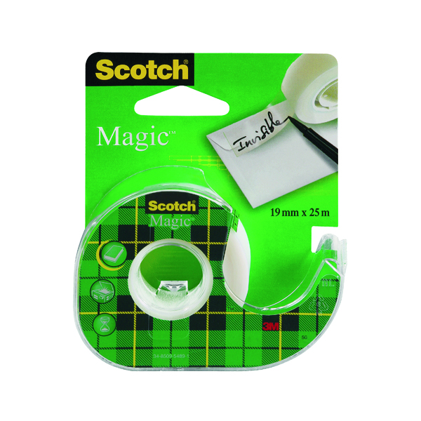 Scotch Magic Tape 810 19mm x 25m (Pack of 3) 8-1925R3