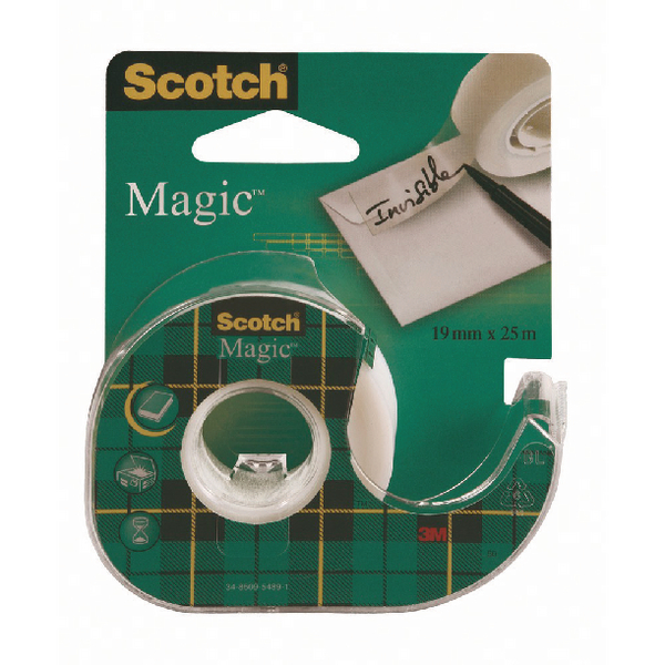 Scotch Magic Tape 19mmx25m on Dispenser (Pack of 12) 8-1925D