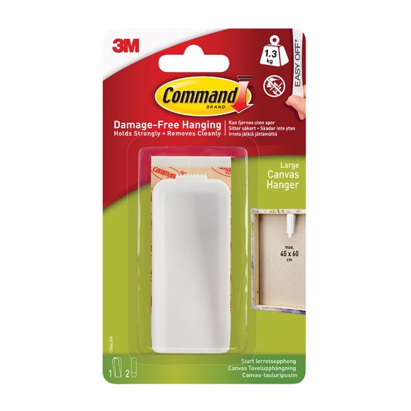 Command Canvas Hanger Large White 1HK+2S 17044