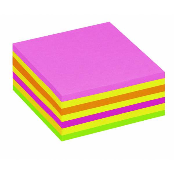 Post It Neon Pink Rainbow Cube Hanging Flow Wrap 325 Sheet Cube 2014LP