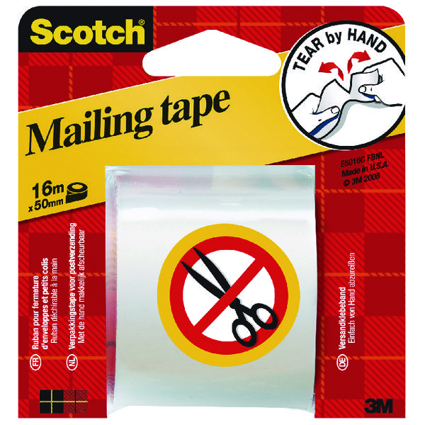 Scotch Clear Hand Tearable Packaging Tape 50mmx16m