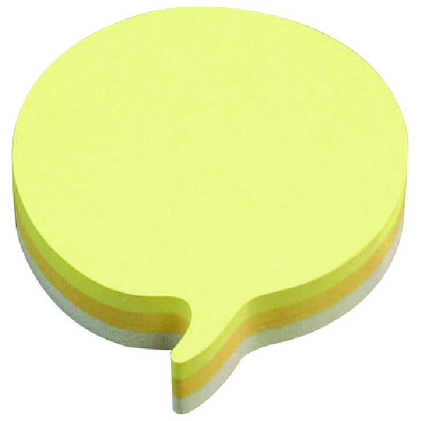Post-it Speech Bubble 70 x 70mm Rainbow Notes (Pack of 12) 3M37917