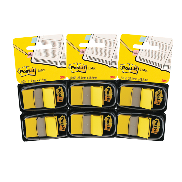 Post-it Index Dispenser Yellow (Pack of 2x50) 3For2