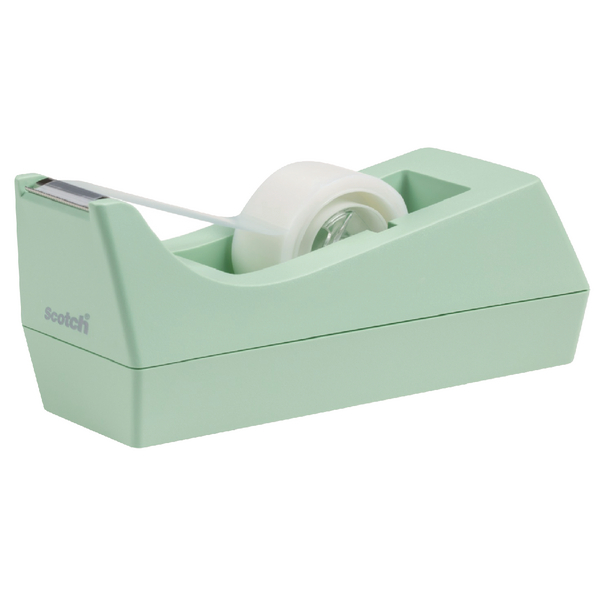 Scotch Tape Dispenser Mint With One Roll of Scotch Magic Tape 19mmx8.89m C38-M-EU