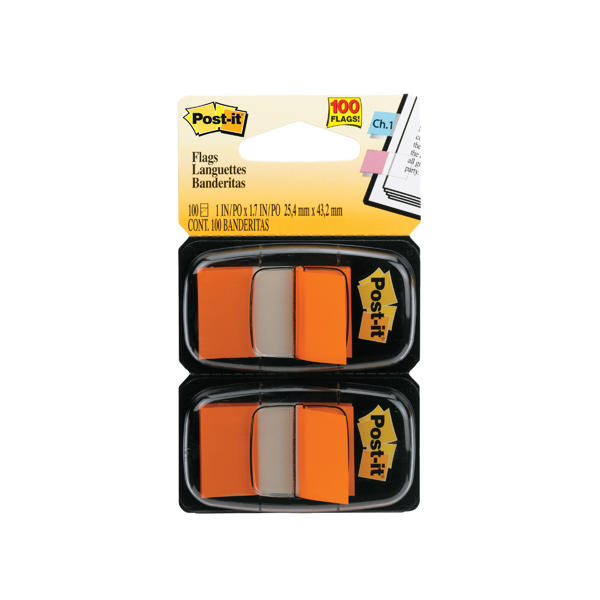 Post-it Index Tabs Orange (Pack of 100) 680-O2EU