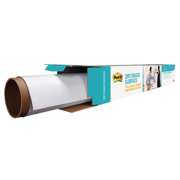 Post-it Super Sticky Dry Erase Film Roll 1.219 x 2.438m White DEF8X4-EU