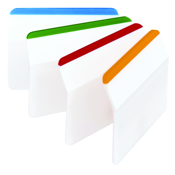 Post-it 4 Colour Strong Index Flat Filing Tabs Pack of 24 686-F1