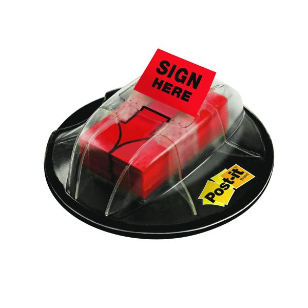 Post-it Index Sign Here Desk Grip Dispenser 680-SHVR200