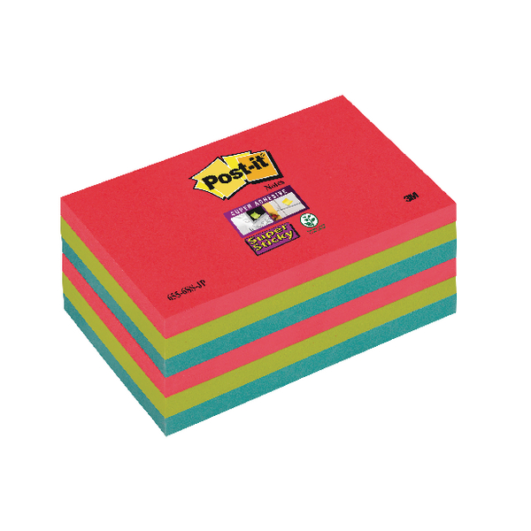 Post-it Super Sticky 76x127mm Bora Bora Notes (Pack of 6) 70-0051-9805-9