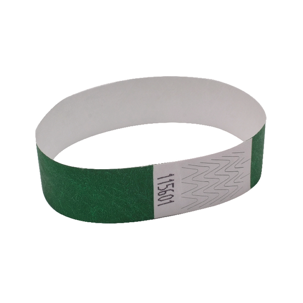 Announce Wrist Bands 19mm Green  (pk1000)