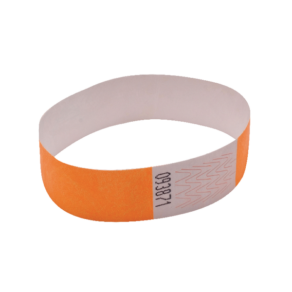 Announce Wrist Band 19mm Orange (Pack of 1000)