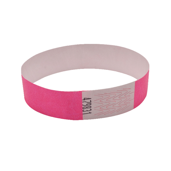Announce Wrist Band 19mm Pink (Pack of 1000)