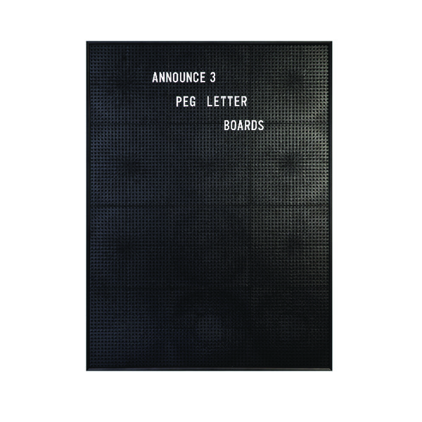 Announce Peg Letter Board 463x615mm 1/ECON-3/VC/EC-KIT692