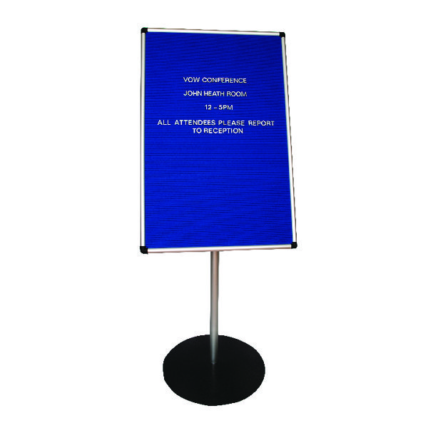 Announce Groove Letter Board 600 x 900mm on 1.1m Stand 3/SR-9060/P/SS/GU/PS 19MM