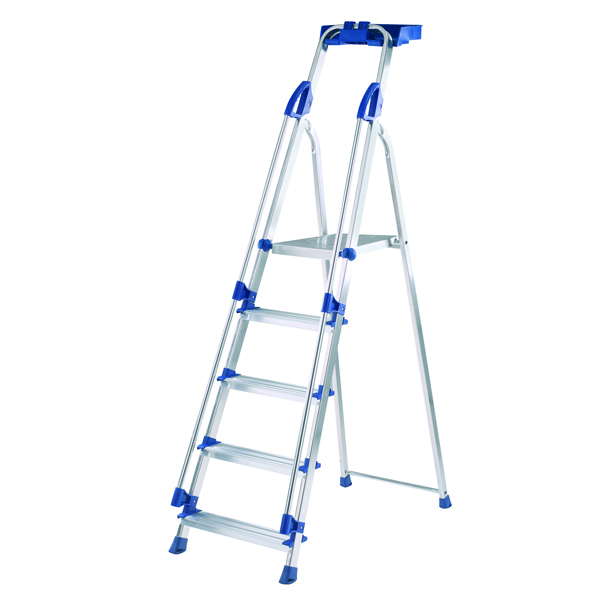 Blue Seal 5 Tread Professional Aluminium Step Ladder 7050518
