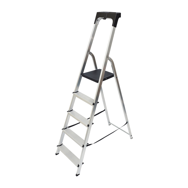 Abru Aluminium High Handrail 5 Tread Step Ladder 7410518