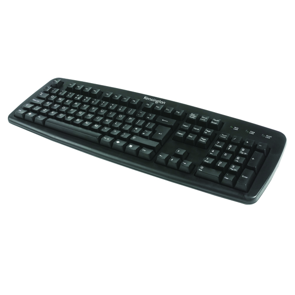 Kensington Wired USB UK Keyboard Black 1500109