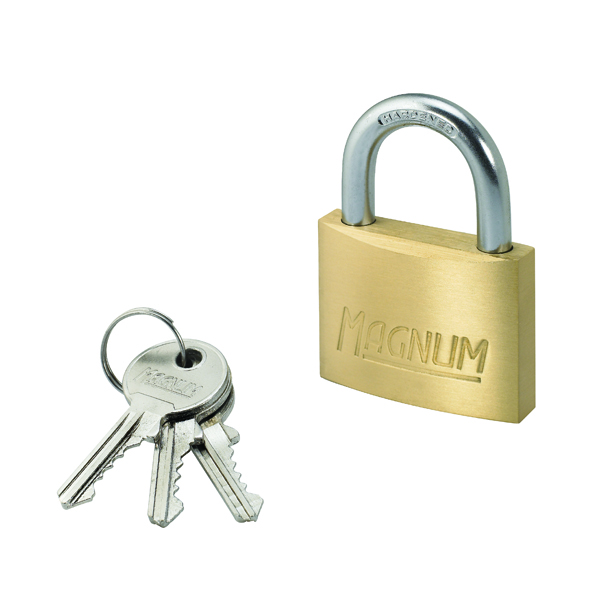 Image for Master Lock Magnum 50mm Brass Padlock 40044