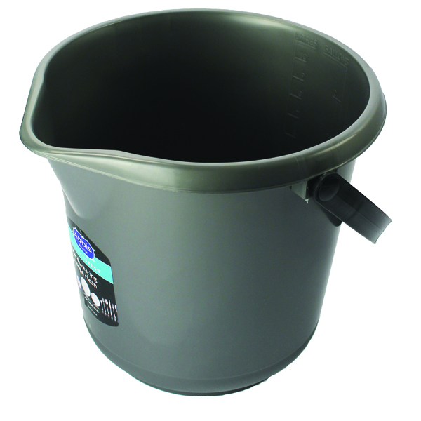Addis 10 Litre Plastic Bucket Metallic 9642MET