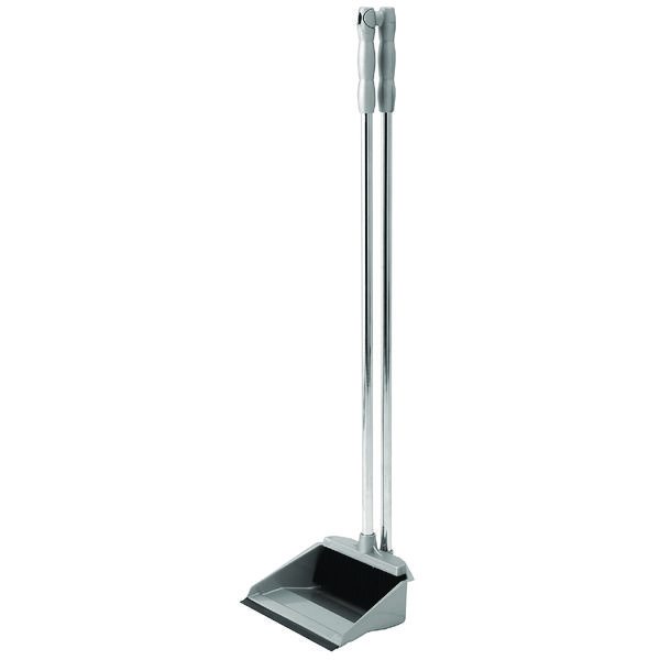 Addis Metallic Grey Long Handled Dustpan and Brush Set 501043