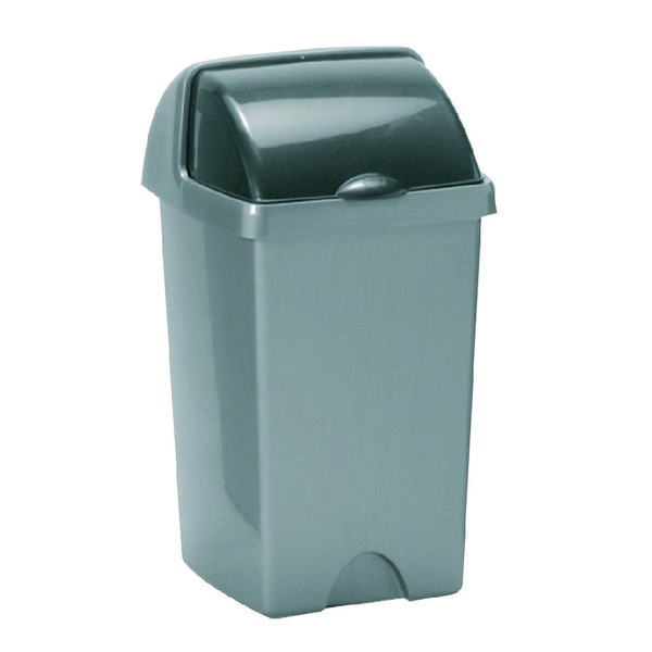 Addis Roll Top Bin 25 Litre Metallic