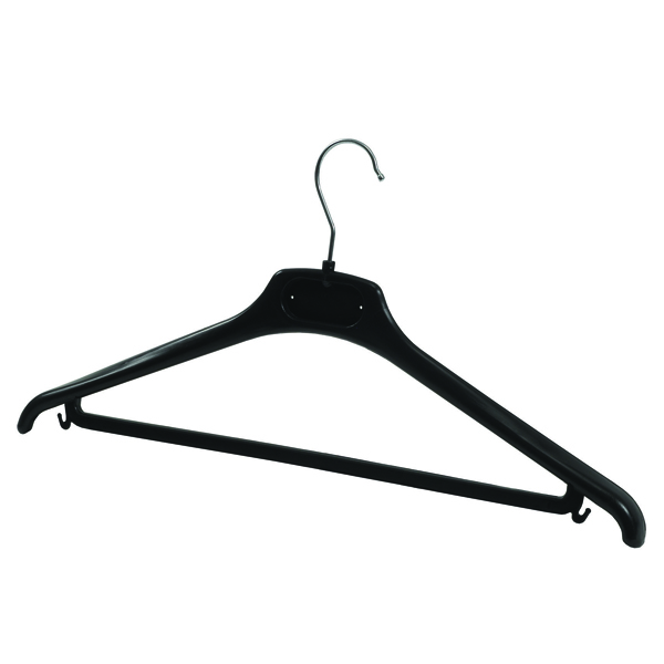 Alba Plastic Coat Hanger Black (Pack of 20) PMBASICPL
