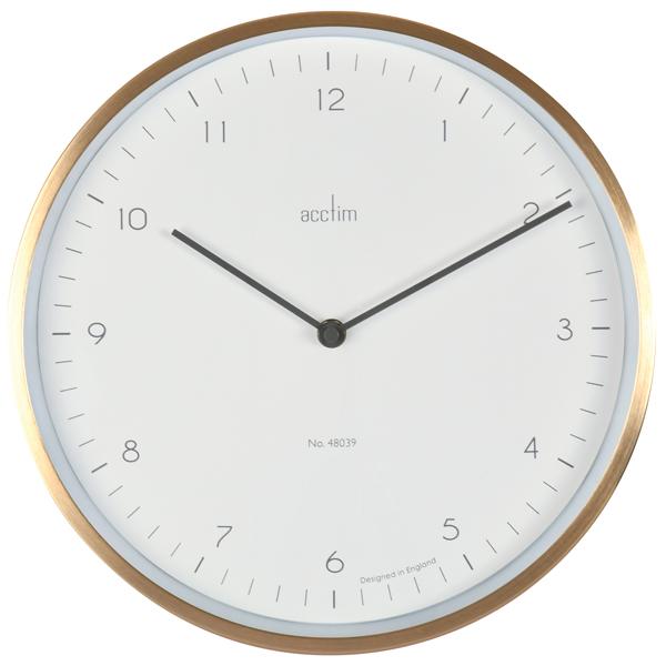 Acctim Bronx 30cm Wall Clock Brass 29458