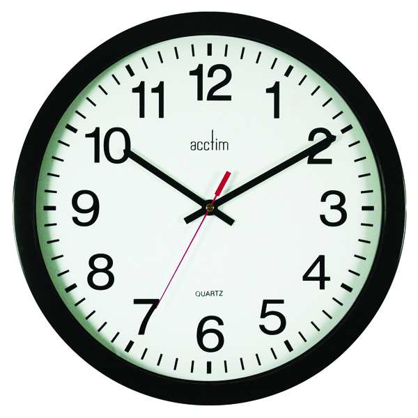 Image for Acctim Controller Silent Sweep Wall Clock 368mm Black 93/704B