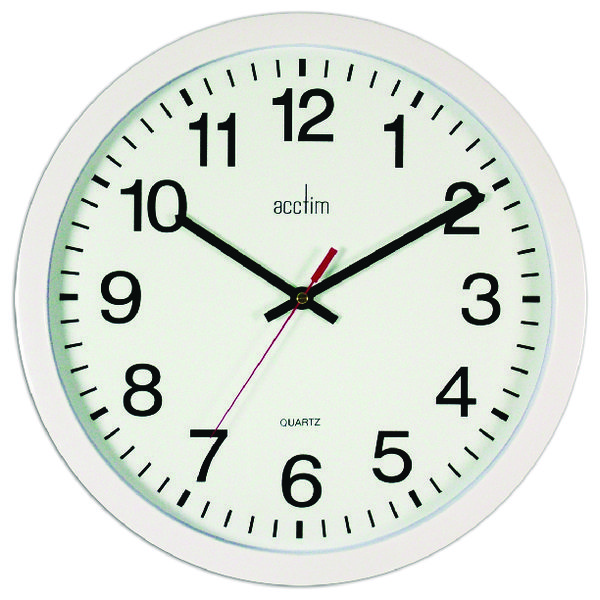 Image for Acctim Controller Silent Sweep Wall Clock 368mm White 93/704