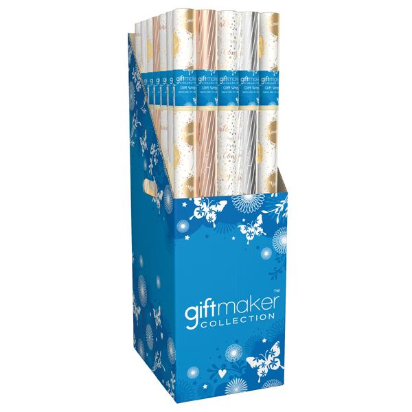 Giftmaker Celebration Mix Gift Wrap (Pack of 36) Y8GM123K