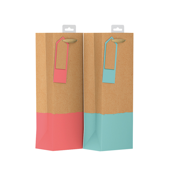 Giftmaker Colour Dipped Bottle Bag (Pack of 6) GDPB