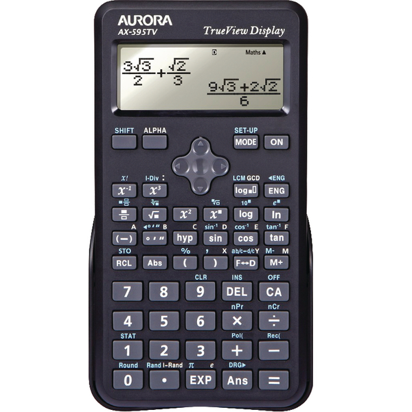 Aurora Black Dot Matrix Scientific Calculator AX595TV